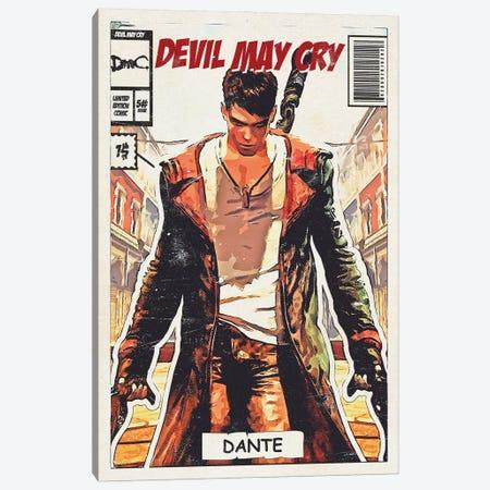 Devil may cry Comic Canvas Print #DUR681} by Durro Art Art Print