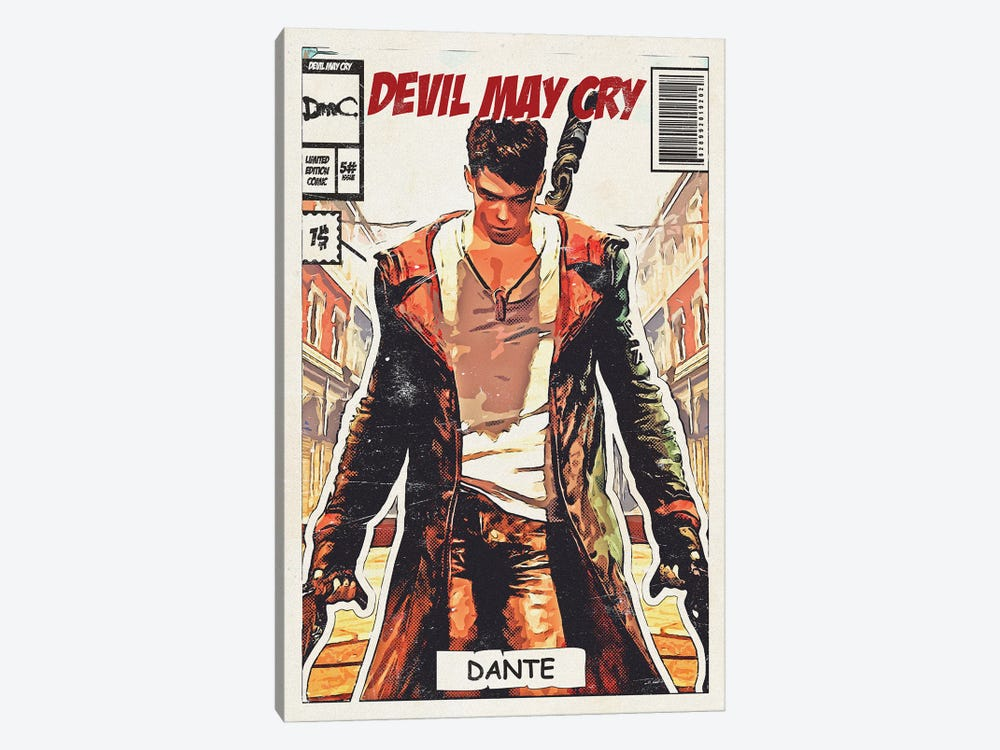 Devil may cry Comic by Durro Art 1-piece Canvas Print