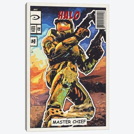 Halo Comic Canvas Print #DUR683} by Durro Art Art Print