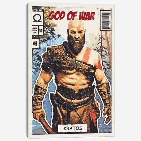 Kratos Comic Canvas Print #DUR685} by Durro Art Canvas Art