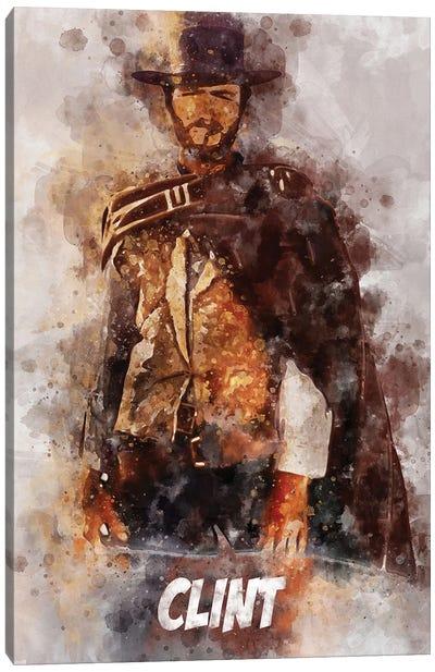 Clint Watercolor Canvas Art Print