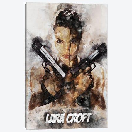 Lara Croft II Watercolor Canvas Print #DUR688} by Durro Art Canvas Print