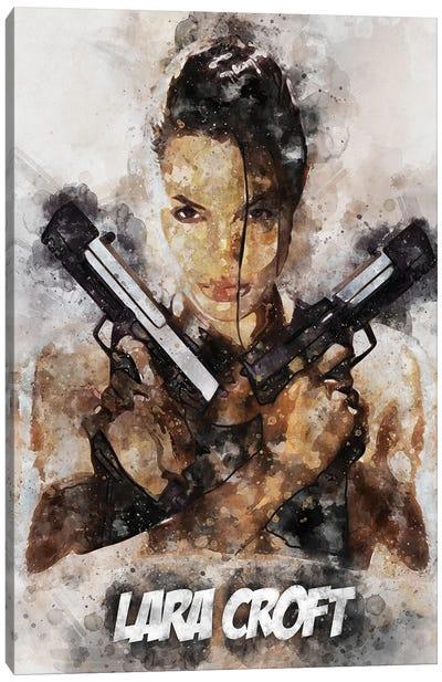 Lara Croft II Watercolor Canvas Art Print