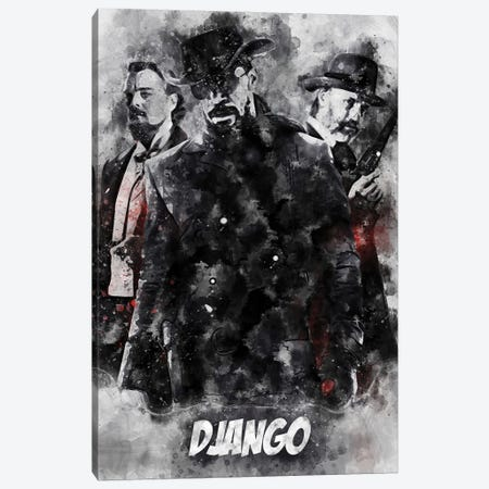 Django Watercolor II Canvas Print #DUR691} by Durro Art Canvas Artwork