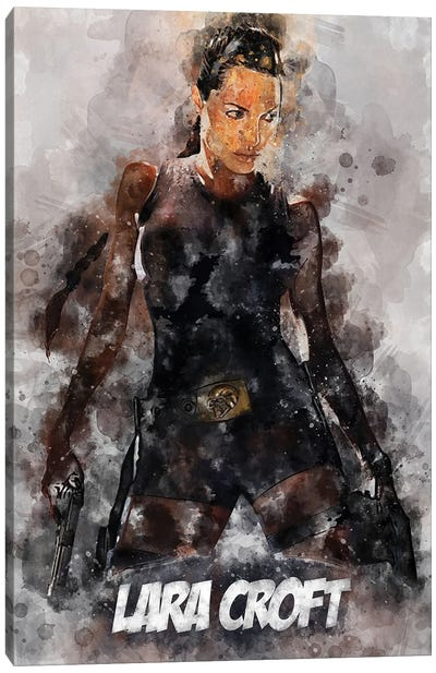 Lara Croft Watercolor II Canvas Art Print
