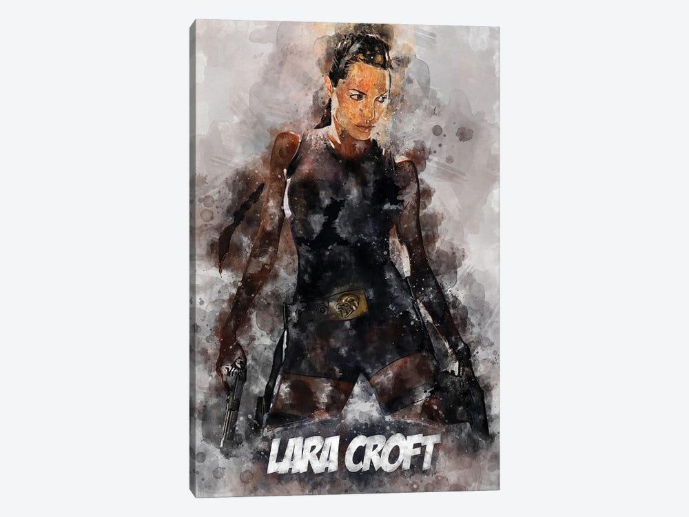 Lara Croft Watercolor II by Durro Art 1-piece Canvas Art Print