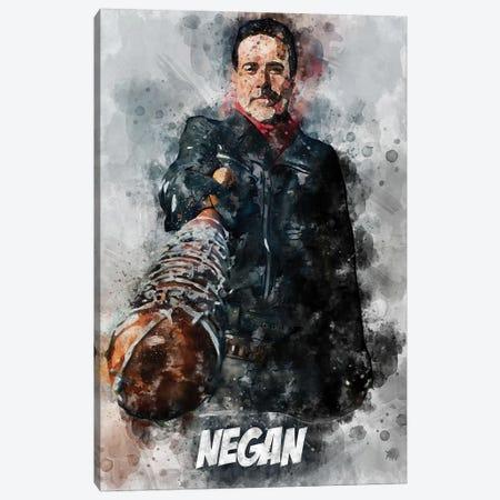 Negan Watercolor II Canvas Print #DUR693} by Durro Art Canvas Wall Art