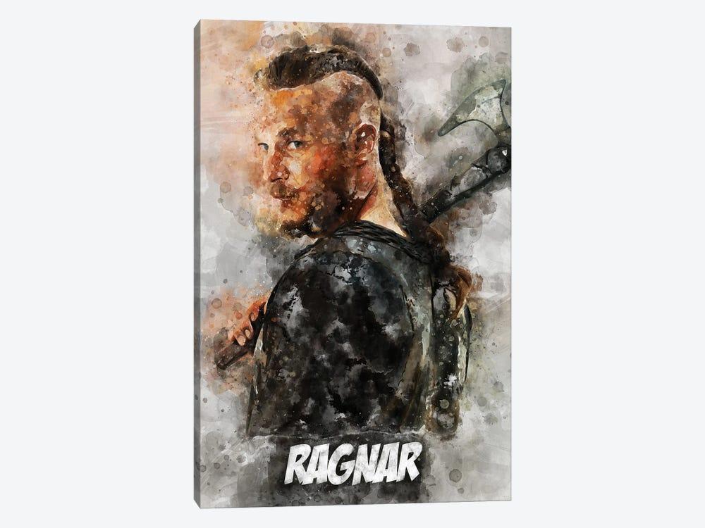 Ragnar Watercolor II by Durro Art 1-piece Canvas Print