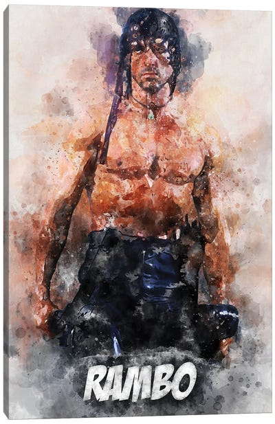 Rambo Watercolor II Canvas Art Print