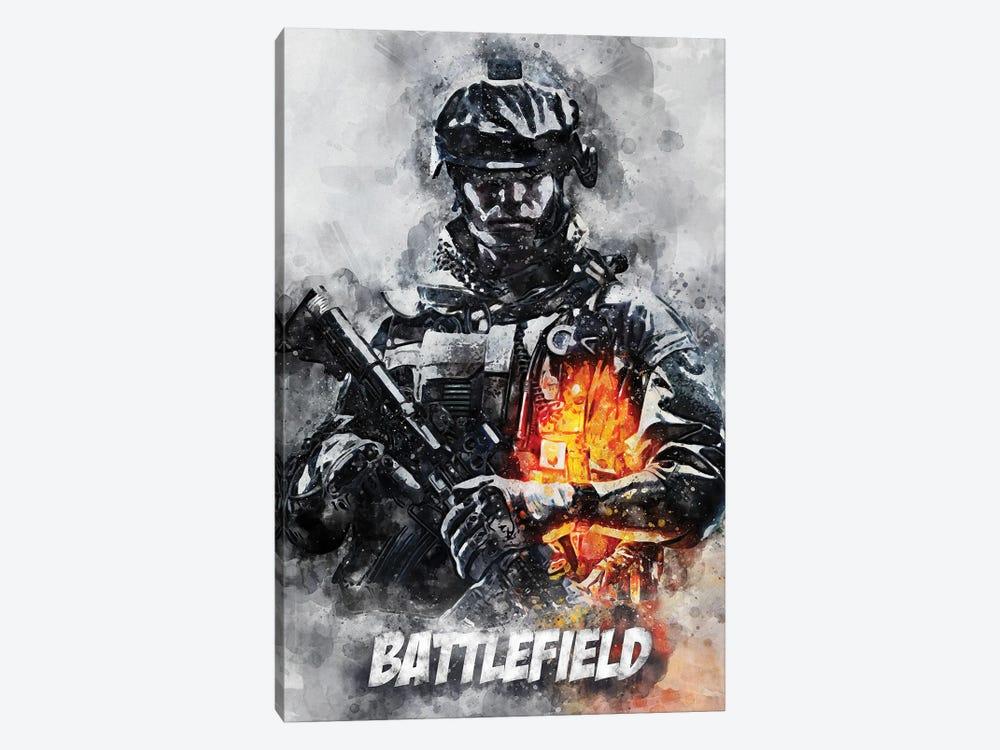 Battlefield Watercolor II by Durro Art 1-piece Canvas Artwork
