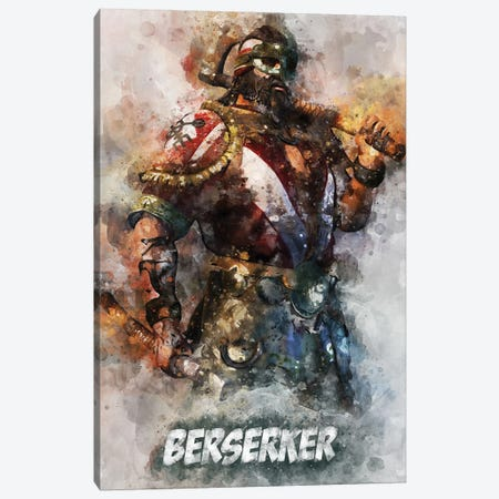 Berserker Watercolor II Canvas Print #DUR698} by Durro Art Canvas Art