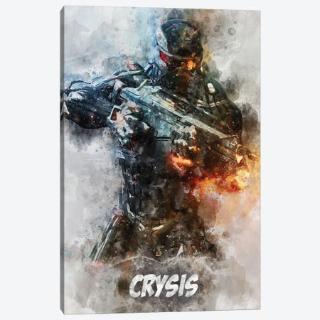 Crysis Watercolor II Canvas Print #DUR700} by Durro Art Canvas Art