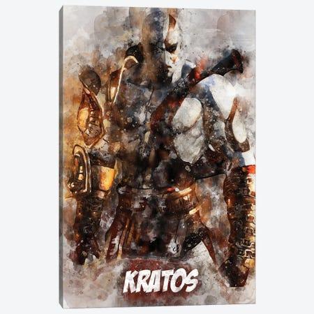 Kratos Watercolor II Canvas Print #DUR704} by Durro Art Art Print