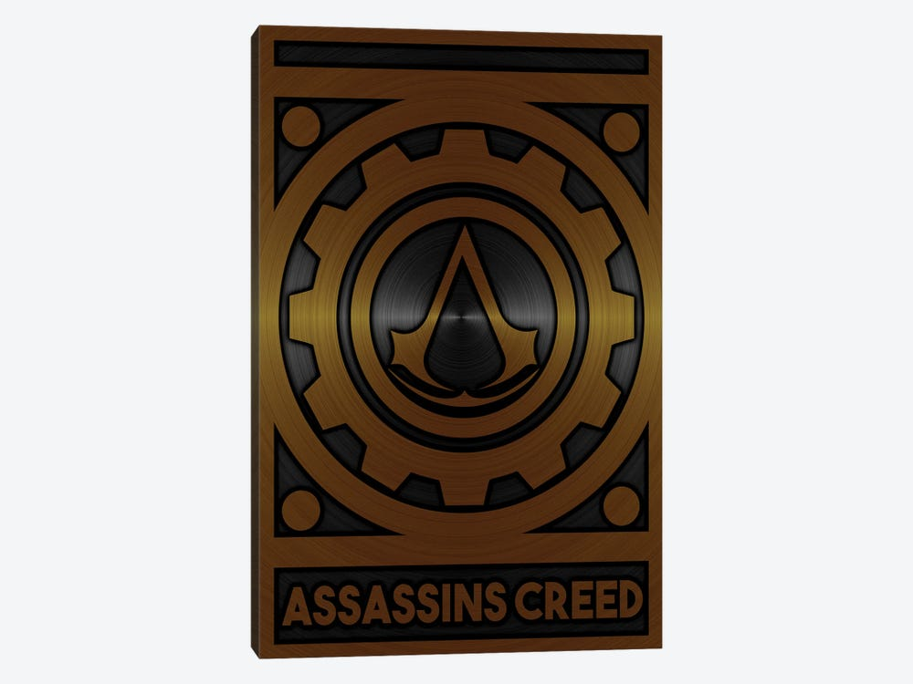 Assassins Creed Gold by Durro Art 1-piece Canvas Print