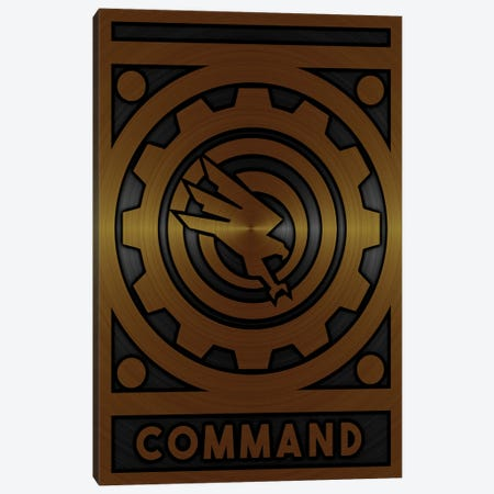 Command Gold Canvas Print #DUR709} by Durro Art Canvas Artwork