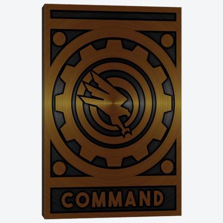Command Gold Canvas Print #DUR709} by Durro Art Canvas Artwork