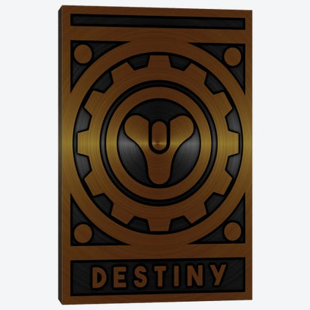 Destiny Gold Canvas Print #DUR710} by Durro Art Canvas Art Print