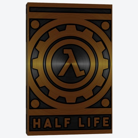 Half Life Gold Canvas Print #DUR714} by Durro Art Canvas Art