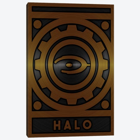 Halo Gold Canvas Print #DUR715} by Durro Art Canvas Wall Art