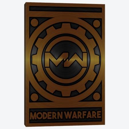 Modern Warfare Gold Canvas Print #DUR718} by Durro Art Art Print