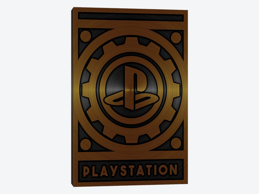 Playstation Gold by Durro Art 1-piece Canvas Art Print