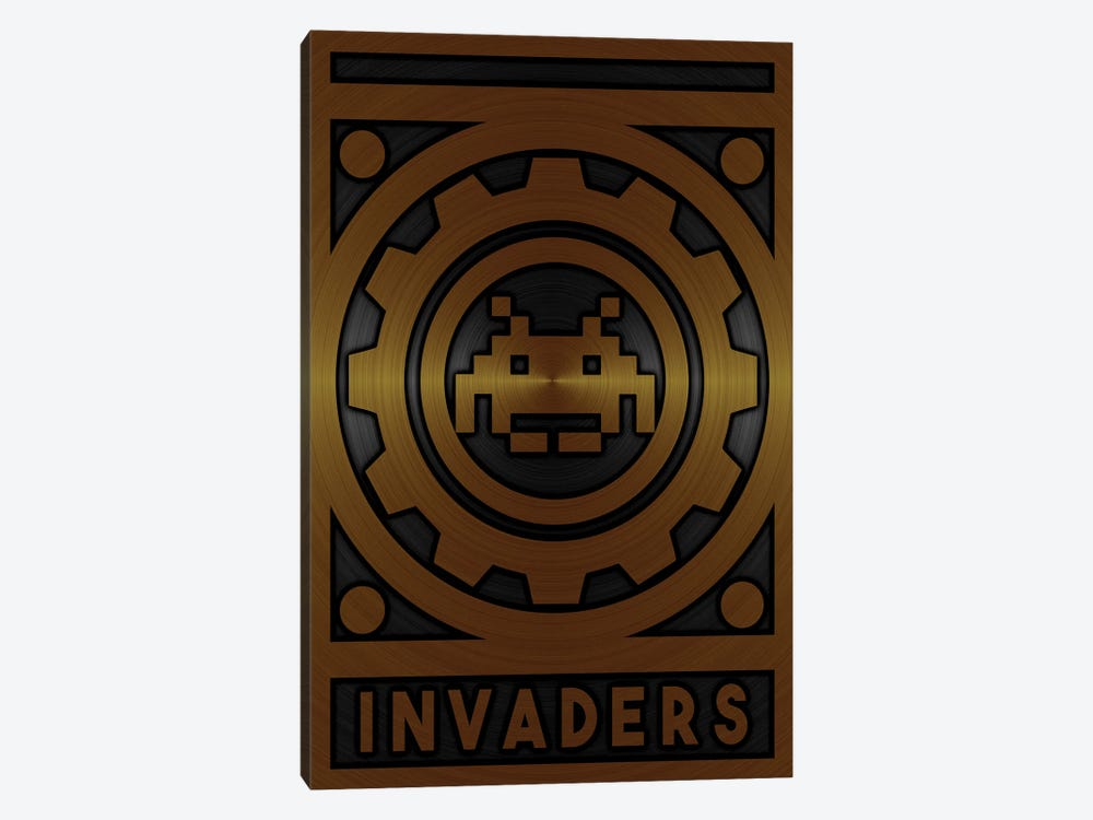 Invaders Gold by Durro Art 1-piece Canvas Wall Art