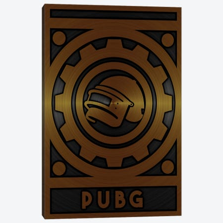 Pubg Gold Canvas Print #DUR723} by Durro Art Canvas Artwork