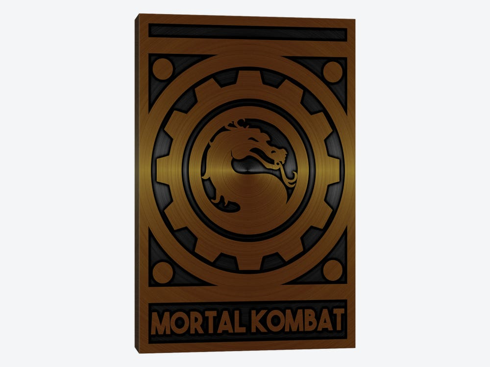 Mortal Kombat Gold by Durro Art 1-piece Canvas Artwork