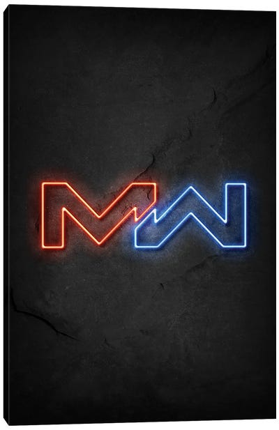 Modern Warfare Neon Canvas Art Print