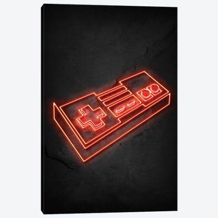 Nintendo Controller Neon Canvas Print #DUR731} by Durro Art Canvas Print