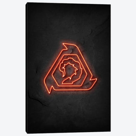 Nod Neon Canvas Print #DUR732} by Durro Art Art Print