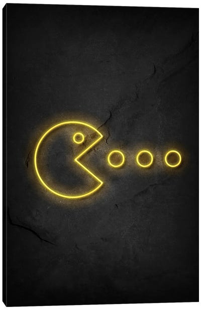 Pac Man Neon Canvas Art Print