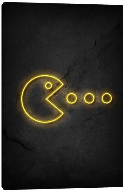 Pac Man Neon Canvas Art Print