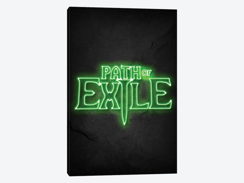 Path Of Exile Green Neon by Durro Art 1-piece Canvas Art