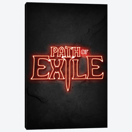Path Of Exile Neon Canvas Print #DUR735} by Durro Art Canvas Wall Art