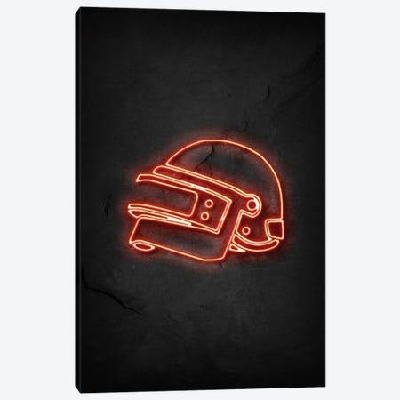 Pubg Helmet Neon Canvas Print #DUR742} by Durro Art Canvas Art