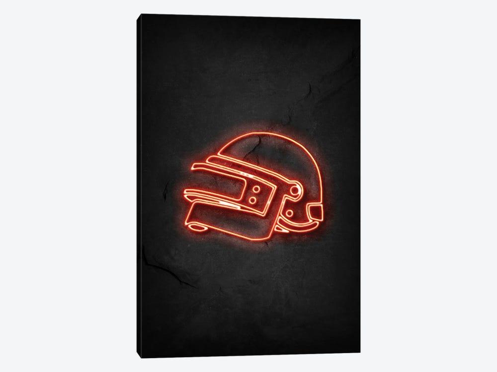 Pubg Helmet Neon by Durro Art 1-piece Canvas Print