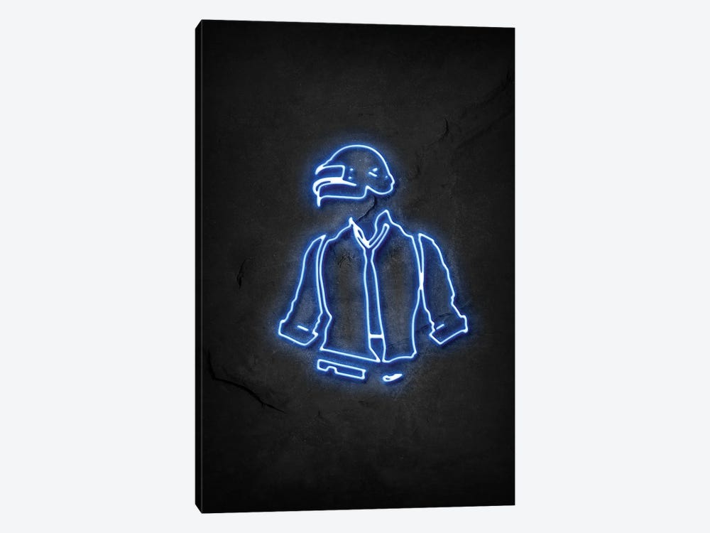 Pubg Soldier Neon by Durro Art 1-piece Canvas Art Print