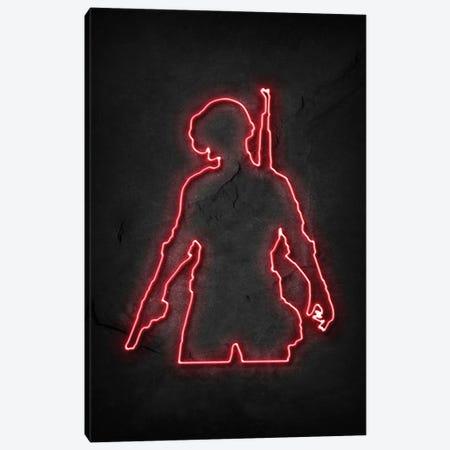 Pubg Soldier 2 Neon Canvas Print #DUR745} by Durro Art Art Print