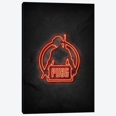Pubg Warrior Neon Canvas Print #DUR747} by Durro Art Art Print