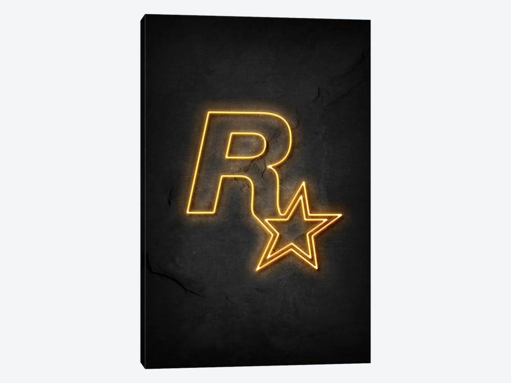 Rockstar Neon by Durro Art 1-piece Canvas Art