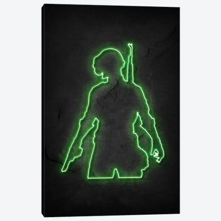 Pubg Soldier Green Neon Canvas Print #DUR750} by Durro Art Art Print