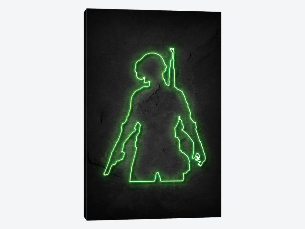 Pubg Soldier Green Neon by Durro Art 1-piece Canvas Wall Art