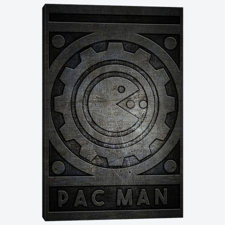 Pac Man Metal Canvas Print #DUR761} by Durro Art Canvas Wall Art
