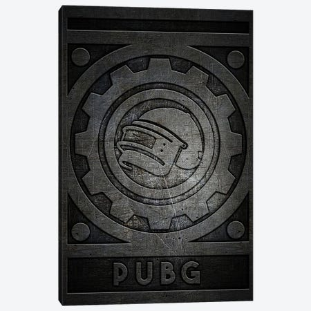 Pubg Metal Canvas Print #DUR762} by Durro Art Canvas Wall Art