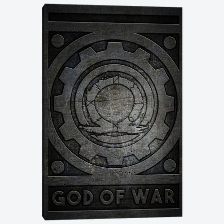 God Of War Metal Canvas Print #DUR764} by Durro Art Canvas Print