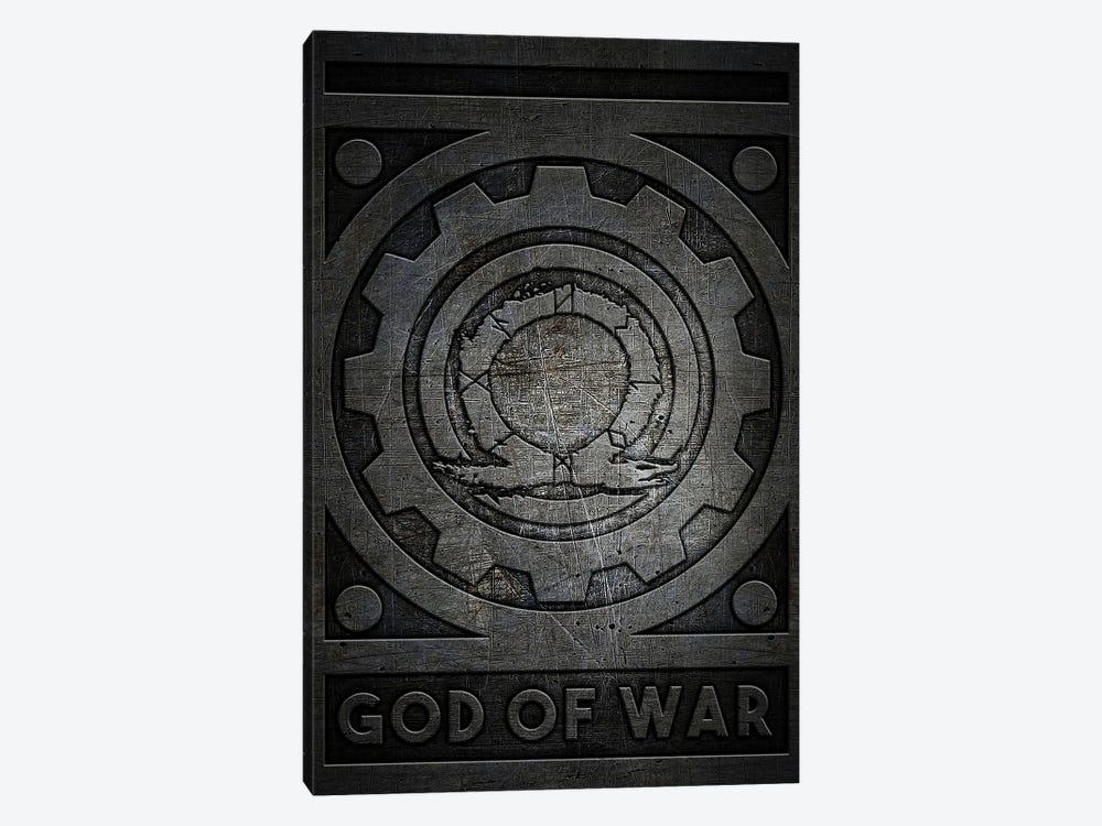 God Of War Metal by Durro Art 1-piece Canvas Print