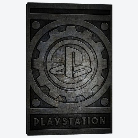 Playstation Metal Canvas Print #DUR770} by Durro Art Canvas Print