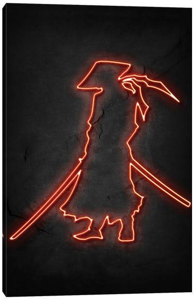 Samurai Neon Canvas Art Print