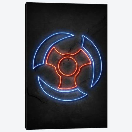 Shuriken Neon Canvas Print #DUR780} by Durro Art Canvas Wall Art
